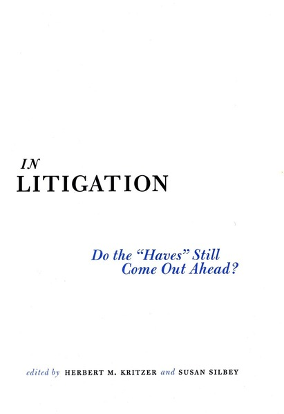 Cover of In Litigation by Edited by Herbert M. Kritzer and Susan S. Silbey