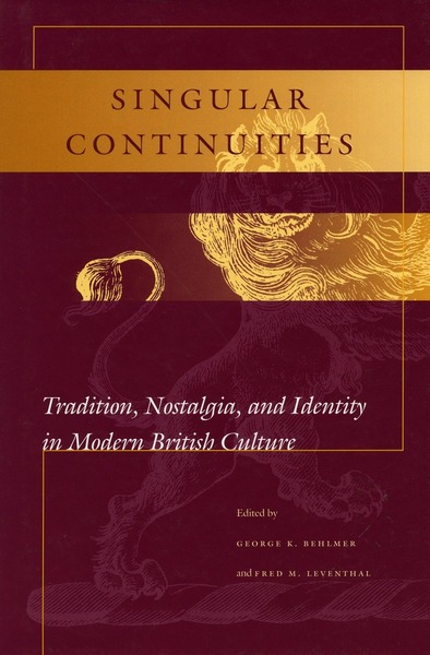 Cover of Singular Continuities by Edited by George K. Behlmer and Fred M. Leventhal