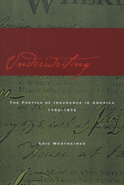 Cover of Underwriting by Eric Wertheimer