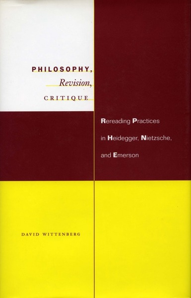 Cover of Philosophy, Revision, Critique by David Wittenberg
