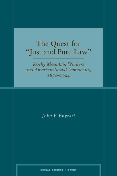 "Cover of The Quest for ""Just and Pure Law"" by John P. Enyeart"
