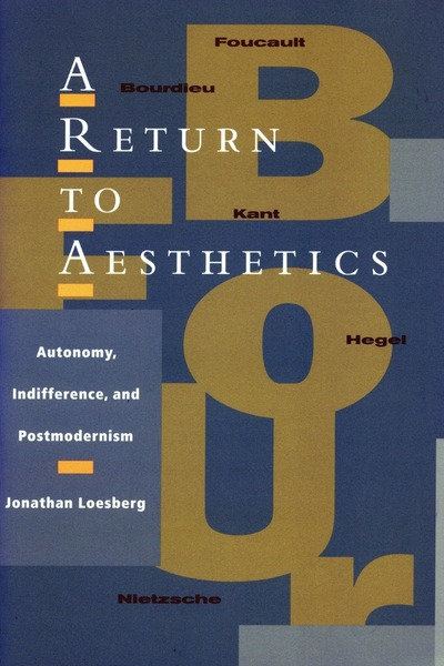 Cover of A Return to Aesthetics by Jonathan Loesberg