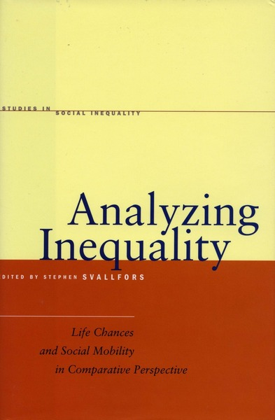 Cover of Analyzing Inequality by Edited by Stefan Svallfors