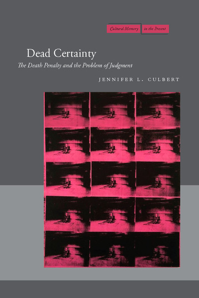 Cover of Dead Certainty by Jennifer L. Culbert