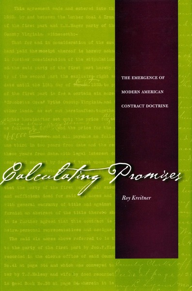 Cover of Calculating Promises by Roy Kreitner