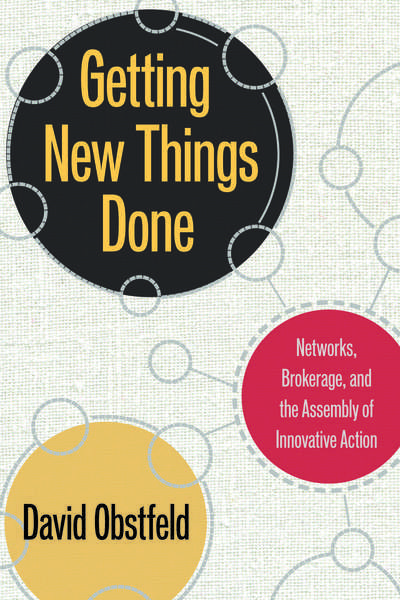 Cover of Getting New Things Done by David Obstfeld
