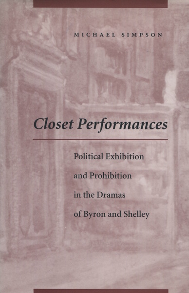Cover of Closet Performances by Michael Simpson