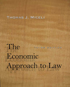 cover for The Economic Approach to Law, Third Edition:  | Thomas J. Miceli