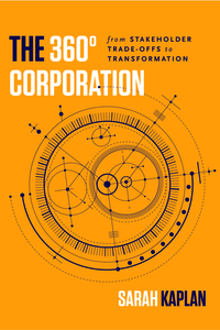 cover for The 360° Corporation: From Stakeholder Trade-offs to Transformation | Sarah Kaplan