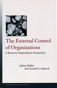 cover for The External Control of Organizations: A Resource Dependence Perspective | Jeffrey Pfeffer and Gerald R. Salancik